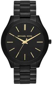 40a60a400eb4 Michael Kors Slim Runway Black IP Stainless Steel Bracelet Watch Michael  Kors Outlet, Handbags Michael