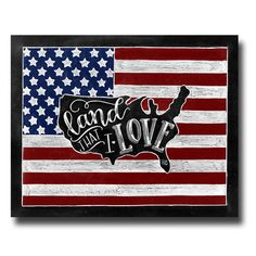 American Flag, Fourth of July, Chalkboard Art, Chalk Art, Independence Day, American Flag Wall Art, Land That I Love, United States Map