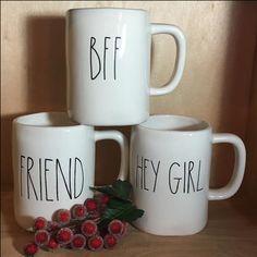 Rae Dunn Mugs - BFF Friend Hey Girl