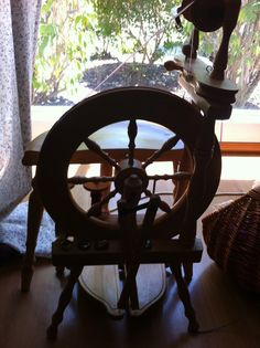 My spinning wheel because she helps me make pretty yarn. When I spin there is the need for balance and focus and it centers me. Im Grateful, Spinning, Pretty, Hand Spinning, Indoor Cycling