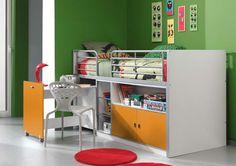 Łóżko piętrowe dla dzieci Bonny Bis Orange z biurkiem http://dladziecka-net.pl/