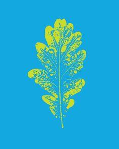 pop art leaf poster