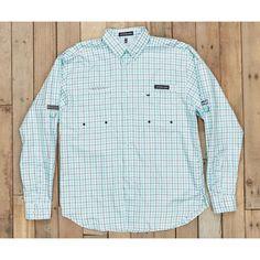 Southern Marsh Harbor Cay Fishing Shirt - Slate/Teal