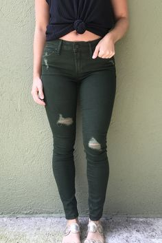 Articles of Society Sarah Release Hem- Murry from Chocolate Shoe Boutique Green Skinny Jeans, Black Jeans, Articles Of Society Jeans, Shoe Boutique, Destruction, Winter Outfits, Chocolate, Dark, Schokolade