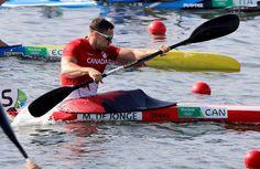 Canada's Mark De Jonge paddles in the men's kayak single 200m heat during the 2016 Summer Olympics in Rio de Janeiro, Brazil, Friday, Aug. 19, 2016. (AP Photo/Matt York)