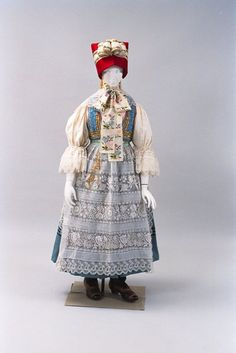 Moravian folk costume, Czech Republic, 1970's.