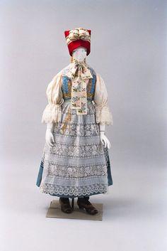 Moravian folk costume, Czech Republic, 1970's.