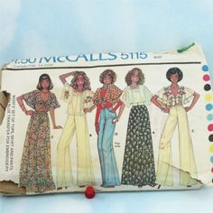 My first sewing project!  Guess what? I'm vintage! lol! Vintage 1970s McCall's 5115 Misses' Size Small by Old2NewMemories, $3.75
