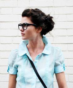glasses + hair