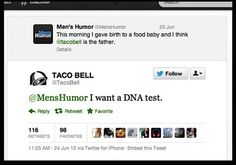 Awesome Tweets from Taco Bell