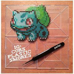Bulbasaur - Pokemon mini perler beads by corsplasticsmores