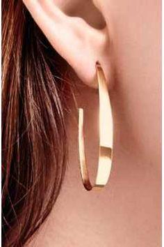 Alternate Image 2 - Lana Jewelry Oval Hoop Earrings