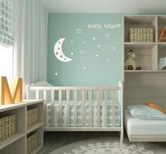 Designing your baby nursery room so that it can be used as a toddler room when the baby grows up. Simple Baby Nursery, Baby Crib Diy, Baby Cribs, Baby Nursery Furniture, Nursery Room, Nursery Ideas, Nursery Canvas, Room Baby, Baby Bedroom