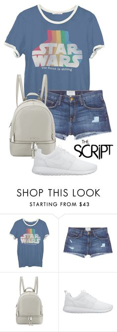 """Mar 9th (tfp) 1153"" by boxthoughts ❤ liked on Polyvore featuring Junk Food Clothing, Current/Elliott, MICHAEL Michael Kors, NIKE and tfp"