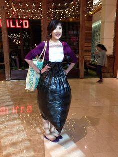 Trash-bag dress protector