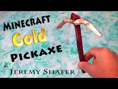 Origami Gold Pickaxe - YouTube