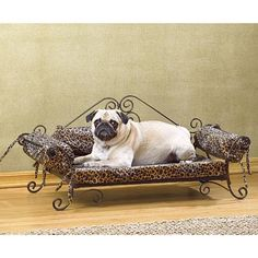 Luxury Pet Bed from Koehlerhomedecor.com - Luxury pet sofa bed with iron frame and leopard print cushion. #home #pet #dogs Wholesale price: $47.94