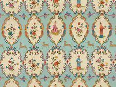 GEISHA SKY/ROSE  Contents  100% Cotton Details      SKU: BR-71615.207     Company: Brunschwig & Fils     Uph, multi, drapery