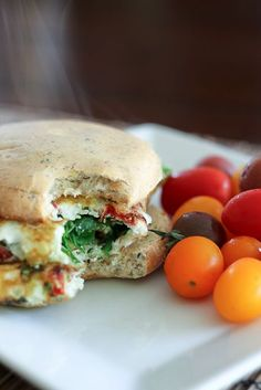 Spinach and Sun Dried Tomatoes Omelet Sandwich | by Sonia! The Healthy Foodie