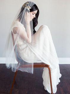 Etsy seller SmithaMenonBridal || Real Bride Katie: Veil Envy