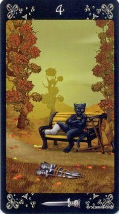 Four of Swords - Black Cats Tarot - Rozamira Tarot - Picasa Web Albums