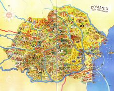 Post with 0 votes and 1326 views. Illustrated Map of Romania (Prior to M-T Pact) x-post from r/Romania I Think Map, Romania Map, Visual Map, World History Lessons, Map Globe, Life Map, Old Maps, Vintage Maps, Illustration Art