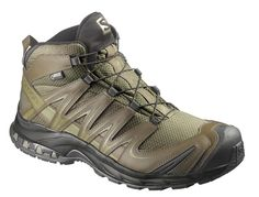 Salomon Forces XA Pro Mid GTX Iguana Green Iguana Green Dark Khaki Iguana Green 9 *** Click image for more details. (This is an affiliate link) Tactical Wear, Tactical Clothing, Tactical Shoes, Trekking Shoes, Hiking Shoes, Police Gear, Military Gear, Military Police, Dark Khaki