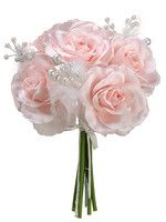 Open Rose Bouquet in Light Pink with Feathers and Pearls.jpg