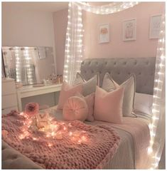 Bedroom Ideas And Inspo For Teenage Girls #teenage #girl #bedrooms #ideas #teenagegirlbedroomsideas Here I've put together some ideas and inspo to help you transition a little girls room into one fit for a teen! Add pops of color to a monochrome room. This bedroom has a grown up feel whilst still being a fun space. Make pink a little more mature by choosing a dusky shade. The […] Teenage Girl Bedroom Decor, Girl Bedroom Walls, Big Girl Bedrooms, Teen Bedroom Designs, Cute Bedroom Ideas, Room Design Bedroom, Room Ideas Bedroom, Small Room Bedroom, Girls Bedroom Ideas Teenagers
