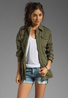THEORY Levian Military Jacket in Desert Green - Theory
