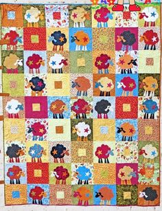 Scrap Bin Sheep - fun pieced and applique quilt PATTERN - Me & My Red Boots • AUD 14.00 - PicClick AU
