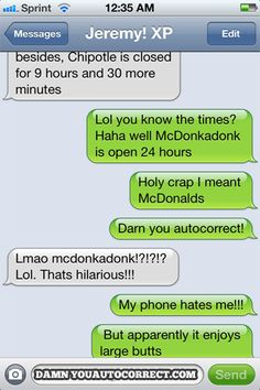funny auto-correct texts - The 50 Most Hilarious Autocorrects Of 2012!