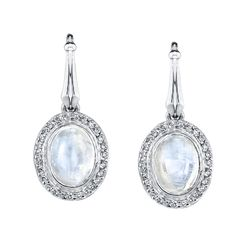 Oval moonstone set in white gold with diamond bezel. Gifts For My Girlfriend, Beautiful Landscapes, Special Gifts, Bridal Jewelry, Jewerly, Best Gifts, Cocktail, White Gold, Make Up