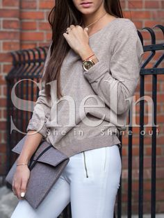 Shop Grey Long Sleeve Round Neck T-Shirt online. SheIn offers Grey Long Sleeve Round Neck T-Shirt & more to fit your fashionable needs.