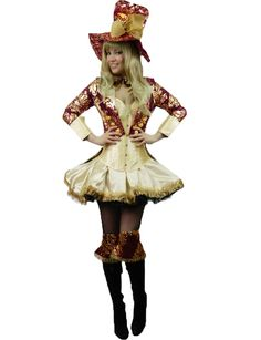 Yummy Bee Mad Hatter Tea Party Hostess Costume Womens Fancy Dress Plus Size 6 - 20 Deluxe 6 Piece (Womens: 12-14)