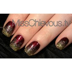 Sparkly Glitter Christmas Nails ❤ liked on Polyvore featuring beauty products, nail care, nail treatments, nails, nail art, nail polish, beauty and makeup