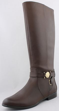 Tommy Hilfiger Women's Dark Brown Terese 2 Tall Riding Boots