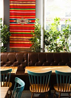 """Corazón is a Mexican restaurant for Portland chef, Chris Israel. The space is the brainchild of a team of folks at Jessica Helgerson Interior Design, who describe what """"drove much of our design"""" sa… Bar Interior, Restaurant Interior Design, Interior Decorating, Restaurant Interiors, Decorating Tips, Mexican Restaurant Design, Restaurant Ideas, Decoracion Vintage Chic, Restaurants"""