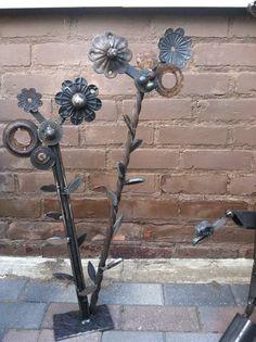 Welded Flower Assemblage Found Metal Sculpture on Etsy, $95.00