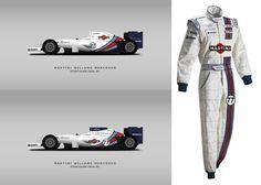 Fillipe Design Auto's conception of Williams Martini livery for FW36