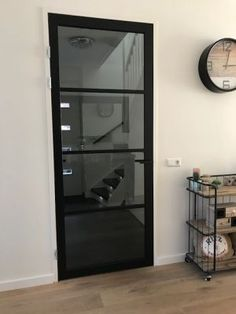 Industrial doors made of wood, alternative to steel., Industrial doors made of wood, alternative to steel. In various models with matching door handles. Home Interior, Interior Design Living Room, Interior Decorating, Interior Door, Barn Renovation, Industrial Door, House Doors, Innovation Design, Home And Living
