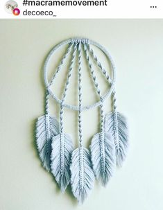 Macrame Design, Macrame Art, Macrame Projects, Macrame Knots, Rope Crafts, Diy Home Crafts, Yarn Crafts, Macrame Wall Hanging Patterns, Macrame Patterns