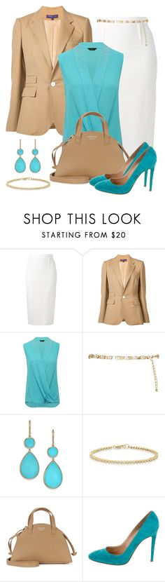 """Untitled #1462"" by gallant81 ❤ liked on Polyvore featuring Roland Mouret, Ralph Lauren Collection, M&Co, River Island, Ippolita, Anne Sisteron, Meli Melo and Gianvito Rossi"