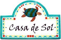 Classy Plaques Store - Mexican Sea Turtle  Address Plaques, $159.00 (http://www.classyplaques.com/mexican-sea-turtle-address-plaques/)