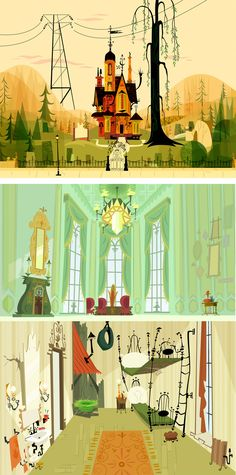 Background paintings for Foster's Home for Imaginary Friends Painted by Sue Mondt
