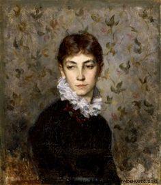 Wiik, Maria  Portrait of the Artist´s sister Miss Hilda Wiik, 1880