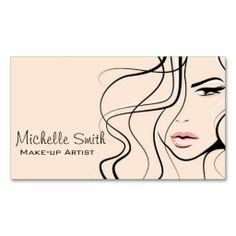 Woman face Make-up artist business card design