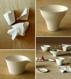 Wasara bio-degradable tableware from Japan – available at The R.E.A.L Store in Sydney