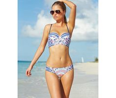 Trendy Printed Bikinis Under $50 - Bar III Printed Underwire Bikini Top ($44) via Style Vanity