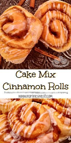 Delicious Big Puffy Cinnamon Rolls made with Cake Mix are quick easy and taste just like traditional yeast cinnamon rolls. Perfect for Holidays or any day! The post Cake Mix Cinnamon Rolls Cake Mix Recipes, Cookie Recipes, Cake Mixes, Dishes Recipes, Pasta Recipes, Bread Recipes, Chicken Recipes, Churros, Breakfast Dishes